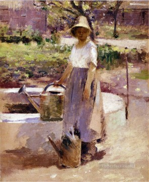 Theodore Robinson Painting - At the Fountain Theodore Robinson