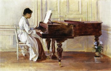 Theodore Robinson Painting - At the Piano Theodore Robinson