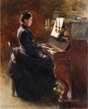Theodore Robinson Painting - Girl at Piano Theodore Robinson