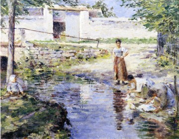 Gossips Theodore Robinson Oil Paintings