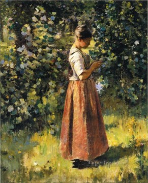 Theodore Robinson Painting - In the Grove Theodore Robinson
