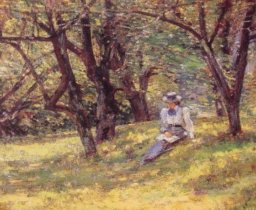 In the Orchard Theodore Robinson Oil Paintings