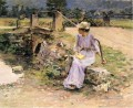 La Debacle aka Marie at the Little Bridge Theodore Robinson