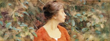 lady - Lady in Red Theodore Robinson
