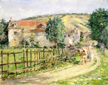 Theodore Robinson Painting - Road by the Mill Theodore Robinson