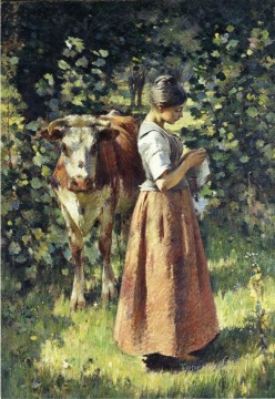 The Cowherd Theodore Robinson Oil Paintings