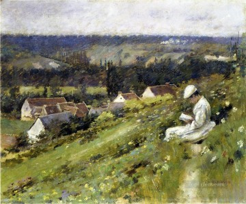 Val dArconville Theodore Robinson Oil Paintings
