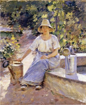Watering Pots Theodore Robinson Oil Paintings
