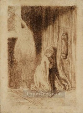 Church Art - Faust Margaret in the Church Pre Raphaelite Brotherhood Dante Gabriel Rossetti