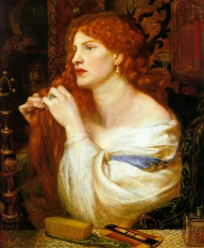 Fazios Mistress Pre Raphaelite Brotherhood Dante Gabriel Rossetti Oil Paintings