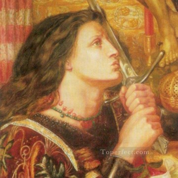 Joan of Arc Pre Raphaelite Brotherhood Dante Gabriel Rossetti Oil Paintings