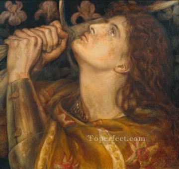 Joan of Arc2 Pre Raphaelite Brotherhood Dante Gabriel Rossetti Oil Paintings