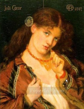 Joli Coeur Pre Raphaelite Brotherhood Dante Gabriel Rossetti Oil Paintings