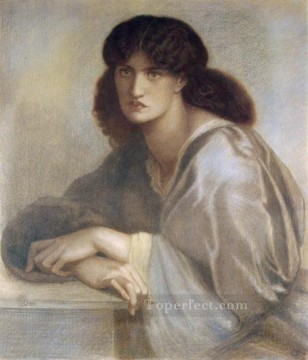 Della Painting - La Donna Della Finestra 1880coloured chalks Pre Raphaelite Brotherhood Dante Gabriel Rossetti