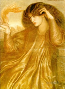 La Donna della Fiamma Pre Raphaelite Brotherhood Dante Gabriel Rossetti Oil Paintings