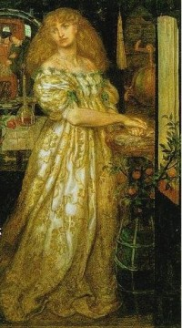 Lucrezia Borgia Pre Raphaelite Brotherhood Dante Gabriel Rossetti Oil Paintings