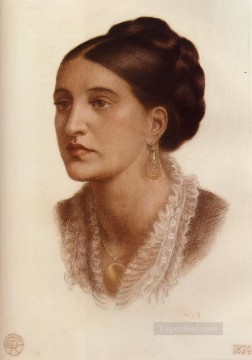 Portrait Of Mrs Georgina Fernandez Pre Raphaelite Brotherhood Dante Gabriel Rossetti Oil Paintings