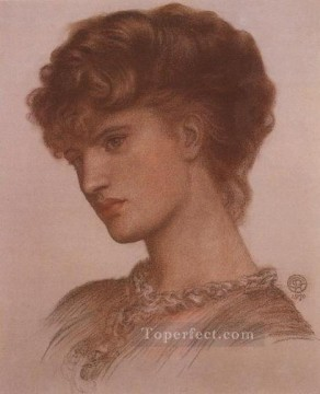 Portrait of Aflaia Coronio nee Ionides Pre Raphaelite Brotherhood Dante Gabriel Rossetti Oil Paintings