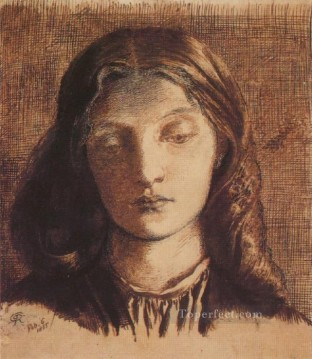 Portrait of Elizabeth Siddal Pre Raphaelite Brotherhood Dante Gabriel Rossetti Oil Paintings