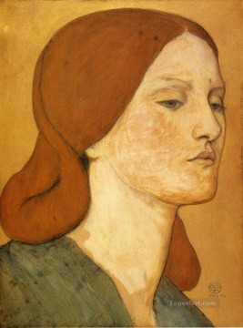 Portrait of Elizabeth Siddal3 Pre Raphaelite Brotherhood Dante Gabriel Rossetti Oil Paintings