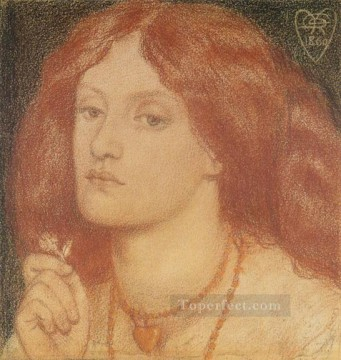 Heart Painting - Regina Cordium or The Queen of Hearts Pre Raphaelite Brotherhood Dante Gabriel Rossetti
