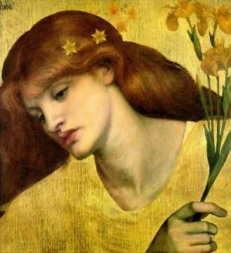 Sancta Lilias Pre Raphaelite Brotherhood Dante Gabriel Rossetti Oil Paintings