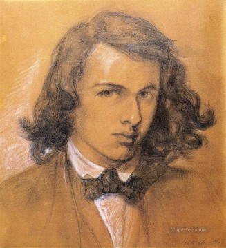Self Portrait Pre Raphaelite Brotherhood Dante Gabriel Rossetti Oil Paintings