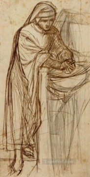 Study For Dante At Verona With A Preliminary Pre Raphaelite Brotherhood Dante Gabriel Rossetti Oil Paintings