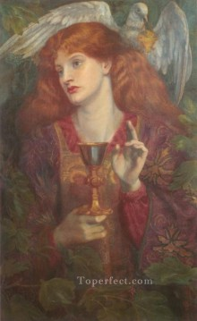 The Holy Grail Pre Raphaelite Brotherhood Dante Gabriel Rossetti Oil Paintings