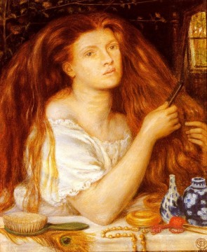 Woman Combing Her Hair Pre Raphaelite Brotherhood Dante Gabriel Rossetti Oil Paintings