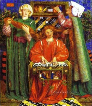 A Christmas Carol Pre Raphaelite Brotherhood Dante Gabriel Rossetti Oil Paintings