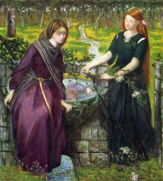 Dantes Vision of Rachel and Leah Pre Raphaelite Brotherhood Dante Gabriel Rossetti Oil Paintings