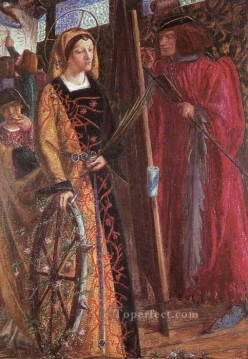 Saint Catherine Pre Raphaelite Brotherhood Dante Gabriel Rossetti Oil Paintings
