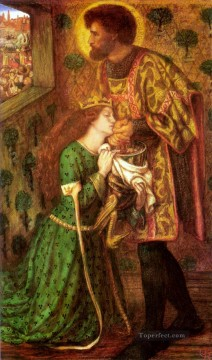 Saint Art - Saint George and the Princess Sabra Pre Raphaelite Brotherhood Dante Gabriel Rossetti