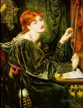 Veronica Veronese Pre Raphaelite Brotherhood Dante Gabriel Rossetti Oil Paintings