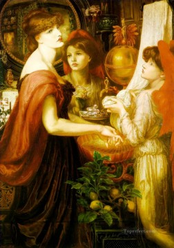La Bella Mano Pre Raphaelite Brotherhood Dante Gabriel Rossetti Oil Paintings