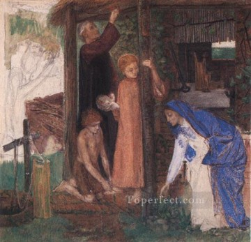 The Passover in the Holy Family Gathering Bitter Herbs Pre Raphaelite Brotherhood Dante Gabriel Rossetti Oil Paintings