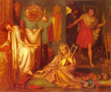 The Return Of Tibullus To Delia Pre Raphaelite Brotherhood Dante Gabriel Rossetti Oil Paintings