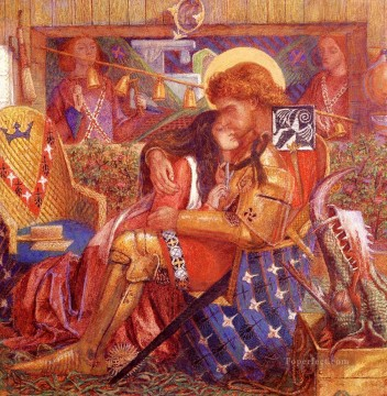 Saint Art - The wedding Of Saint George And The Princess Sabra Pre Raphaelite Brotherhood Dante Gabriel Rossetti