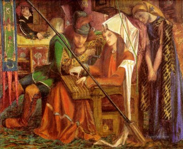 Tune of Seven Towers Pre Raphaelite Brotherhood Dante Gabriel Rossetti Oil Paintings