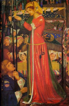 Before the Battle Pre Raphaelite Brotherhood Dante Gabriel Rossetti Oil Paintings