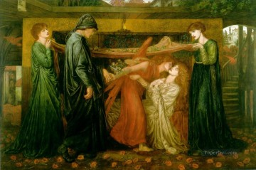 Dream Painting - Dantes Dream at the Time of the Death of Beatrice Pre Raphaelite Brotherhood Dante Gabriel Rossetti