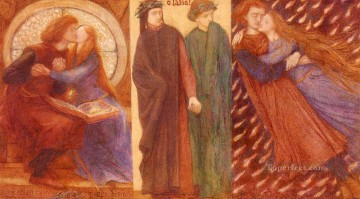 Paolo And Francesca Da Rimini Pre Raphaelite Brotherhood Dante Gabriel Rossetti Oil Paintings