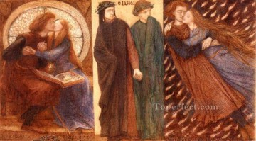 Francesca Painting - Paolo and Francesca 1849 Pre Raphaelite Brotherhood Dante Gabriel Rossetti