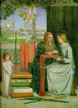 The Childhood of the Virgin Pre Raphaelite Brotherhood Dante Gabriel Rossetti Oil Paintings