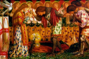 Sir Galahad Pre Raphaelite Brotherhood Dante Gabriel Rossetti Oil Paintings