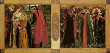 The Salutation of Beatrice Pre Raphaelite Brotherhood Dante Gabriel Rossetti Oil Paintings