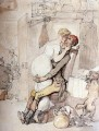 A Kiss In The Kitchen caricature Thomas Rowlandson