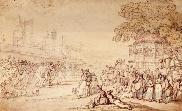 Captain Barclays Rally Match caricature Thomas Rowlandson Oil Paintings