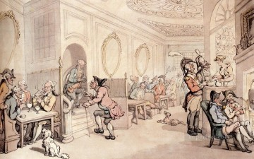 cat Art Painting - Strong Waters At Bath caricature Thomas Rowlandson
